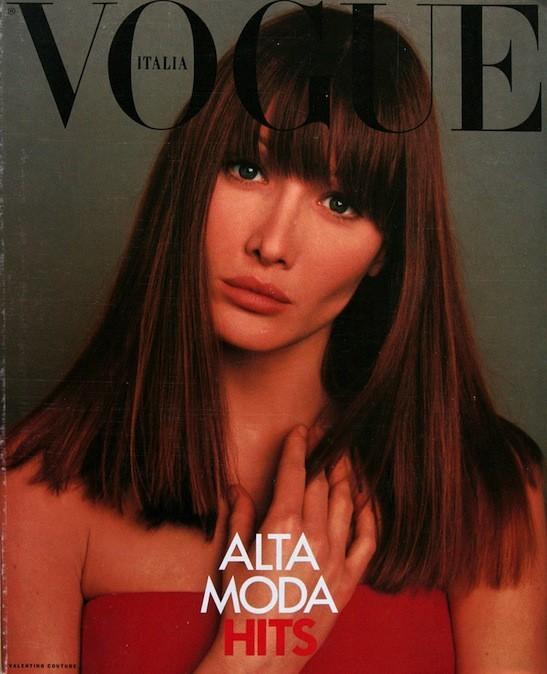 Carla Bruni en couverture du Vogue Italia
