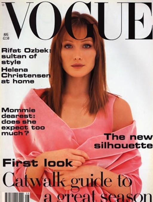 Carla Bruni en couverture du Vogue UK