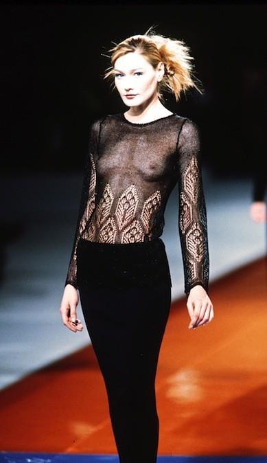 Carla Bruni pour Karl Lagerfeld