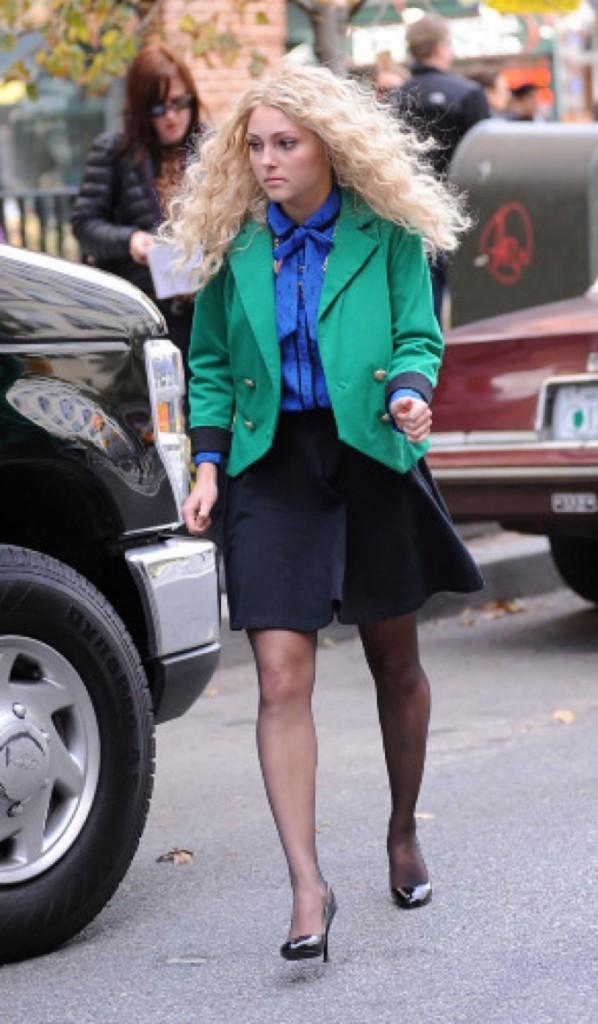 AnnaSophia Robb sur le tournage de Carrie Diaries