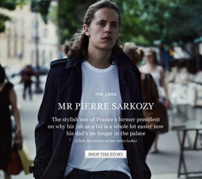 Pierre Sarkozy pour Mr Porter
