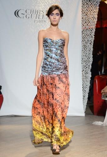 La robe à imprimé dégradé - Défilé Christophe Guillarmé automne-hiver 2013/14
