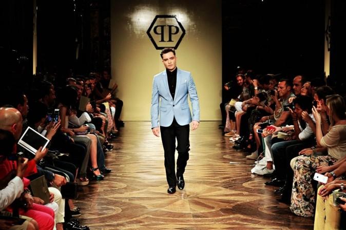 Ed Westwick défile pour Philipp Plein à Milan !