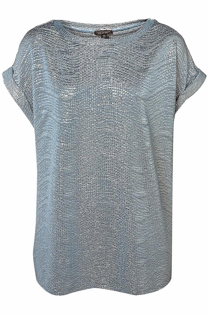 7. Le chant des sirènes : T-shirt lamé et texturé, Topshop. 39 €.