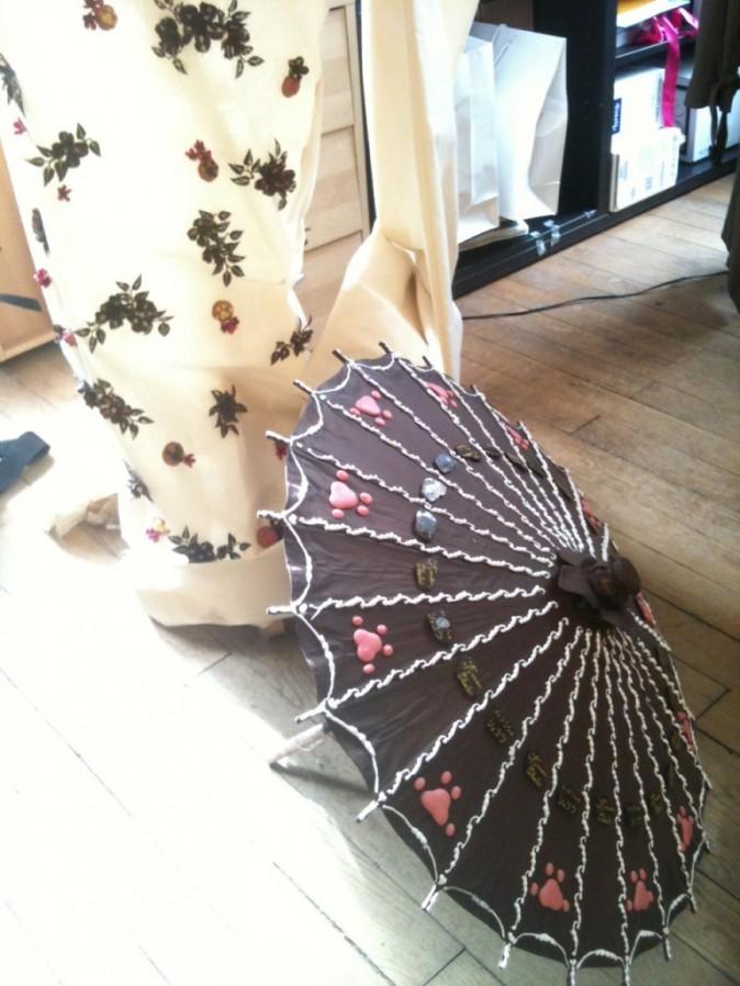 La robe et le parapluie que Natasha St Pier portera..