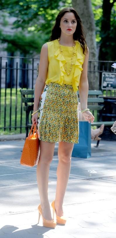 Leighton Meester sur le tournage de Gossip Girl saison 5