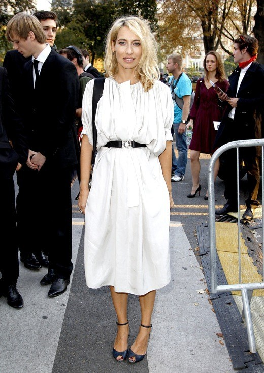 Alexandra Golovanoff au défilé Nina Ricci printemps été 2012