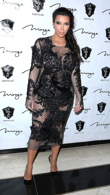 Kim Kardashian, le 1er janvier 2013