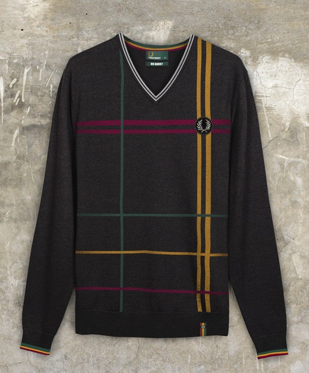 Pull col en V, Fred Pery X No Doubt