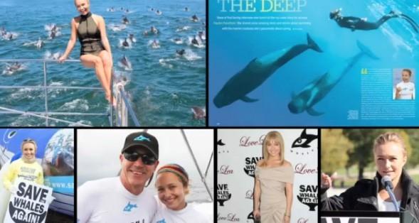 Hayden, une grande supportrice de la cause pour les baleines !