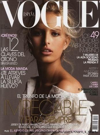 Karolina Kurkova en couverture du Vogue Espagne !