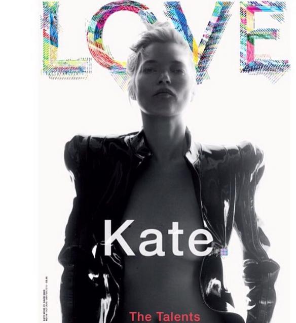 Kate Moss pour Love Magazine