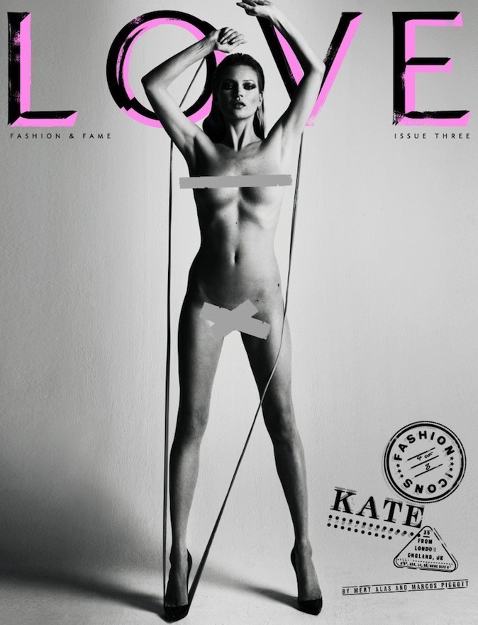 Kate Moss pour Love