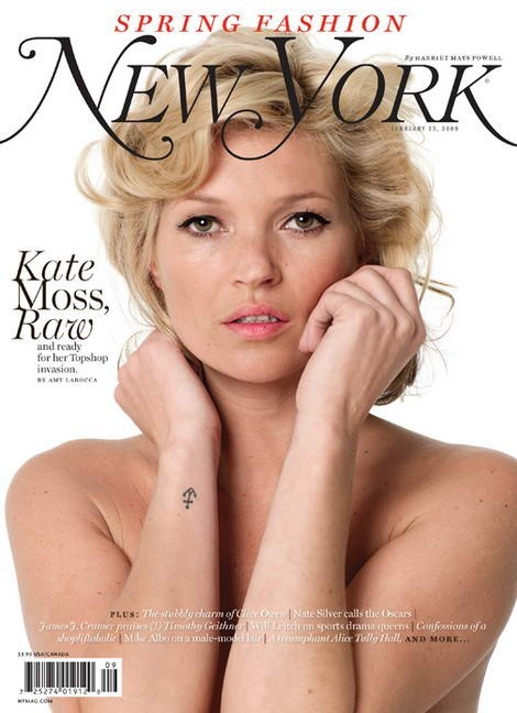 Kate Moss pour New York Magazine