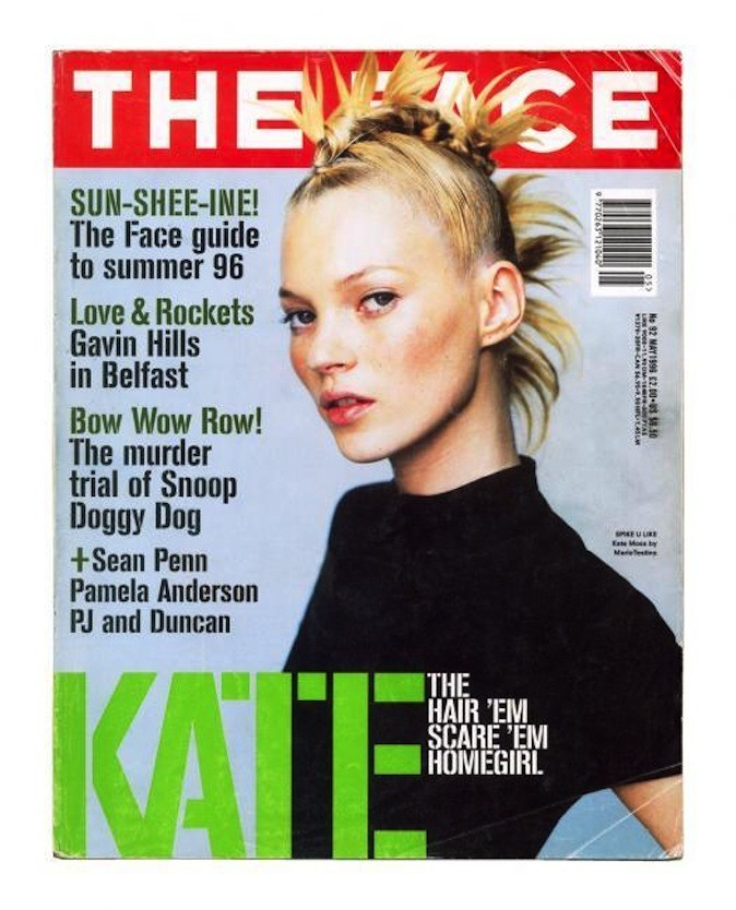 Kate Moss pour The Face