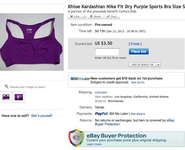 Soutien gorge de sport de Khloe Kardashian