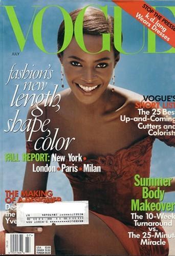 Kiara Kabukuru à la fin des années 1990 pour Vogue