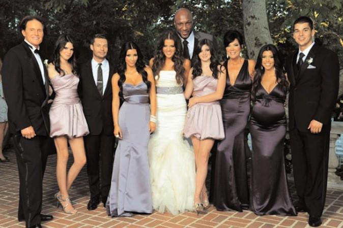 La carte de voeux de la famille Kardashian 2009, esprit mariage !