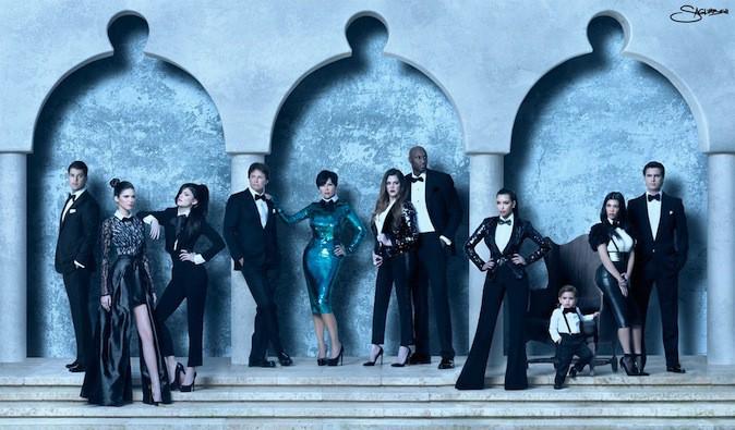 La carte de voeux de la famille Kardashian 2011, black is beautiful !