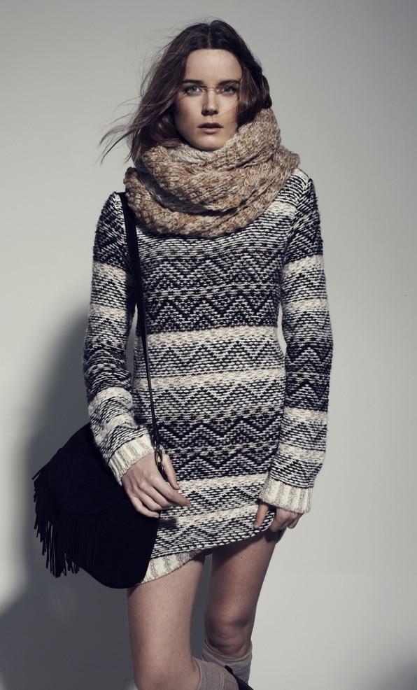 Un gros pull à imprimés en laine : on le veut !!