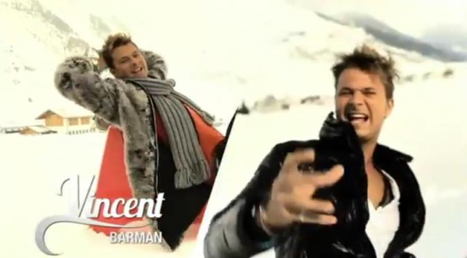 Vincent dans Les Ch'tis font du ski