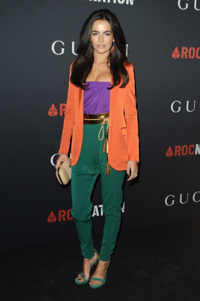 Look de star : Camilla Belle porte le color block de Gucci