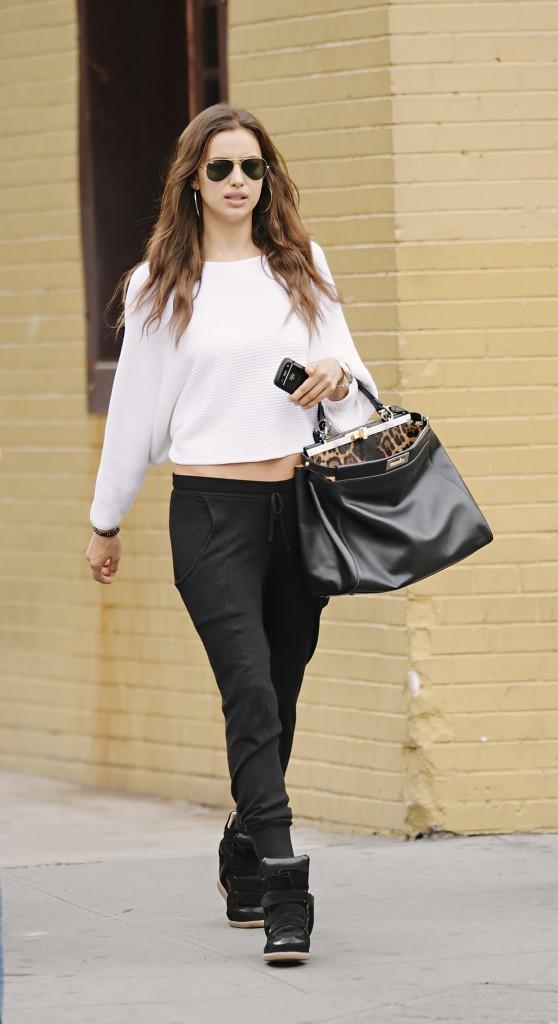 Irina Shayk en octobre 2012 à New York