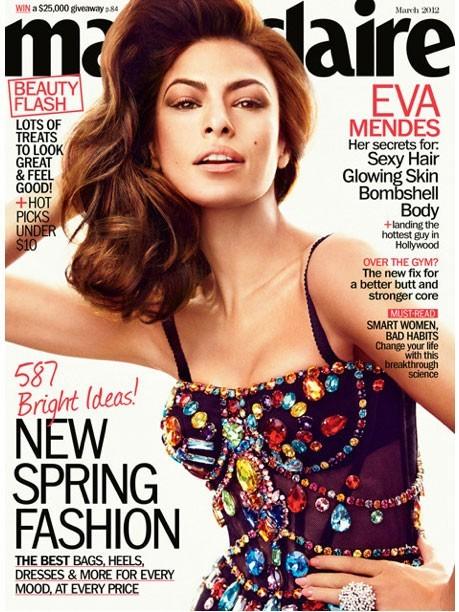 Eva Mendes en couverture du dernier Marie Claire US