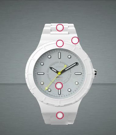 Montre personnalisée Myno Time Coffret 1 bracelet + 1 cadran