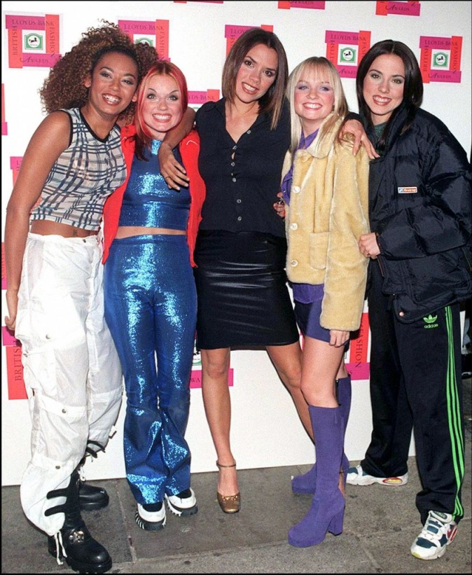 Les Spice Girls en 1996 aux British Fashion Awards à Londres