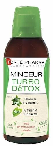 Un concentré d'actifs drainants issus de plantes (thé vert, maté hibiscus) pour un drainage express et efficace ! Minceur Turbo Détox, Forté...