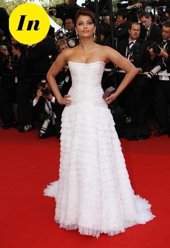 Aishwarya Rai en Roberto Cavalli en 2009 à Cannes.
