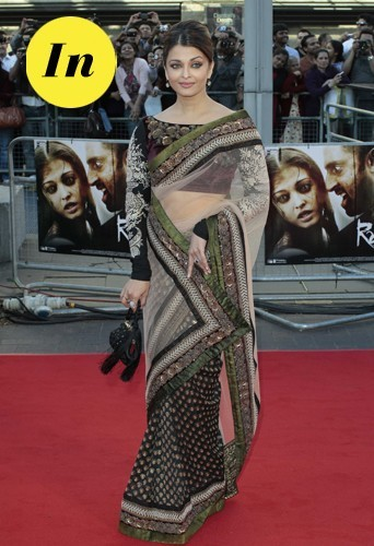 Aishwarya Rai en Sabyasachi en 2010 à Londres.