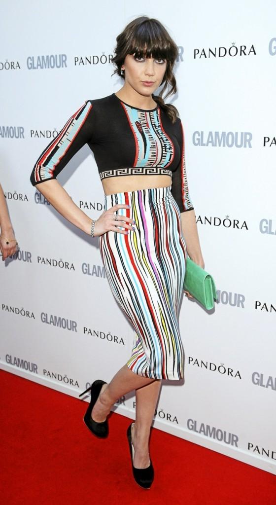 Daisy Lowe en Versace