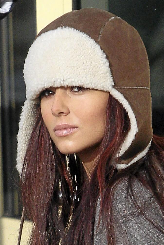 Cheryl Cole, Ça plane pour elle avec sa chapka aviateur !