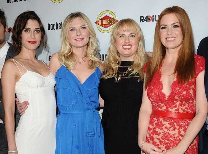 Lizzy Caplan, Kirsten Dunst, Rebel Wilson et et Isla Fisher à la première de Bachelorette.