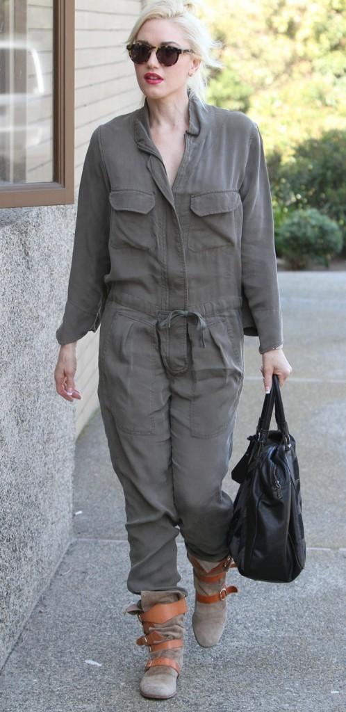 Gwen Stefani: Adepte de la combi, ici version army