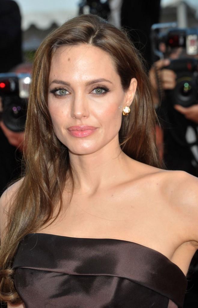Angelina Jolie en brunette