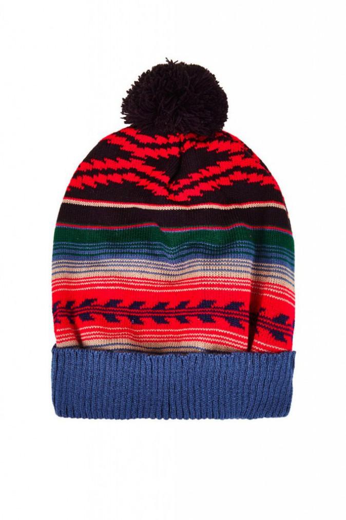 Bonnet motif péruvien, Topshop, 18€