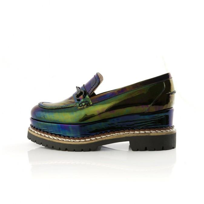 Chaussures bateau à plateforme, Mellow Yellow, 169€