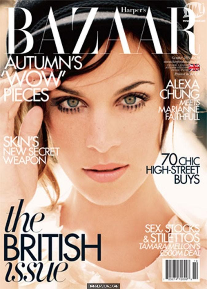 La couverture du mois d'Octobre d'Harper's Bazaar UK !