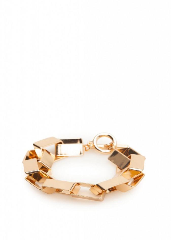 Bracelet doré, Mango 12 €