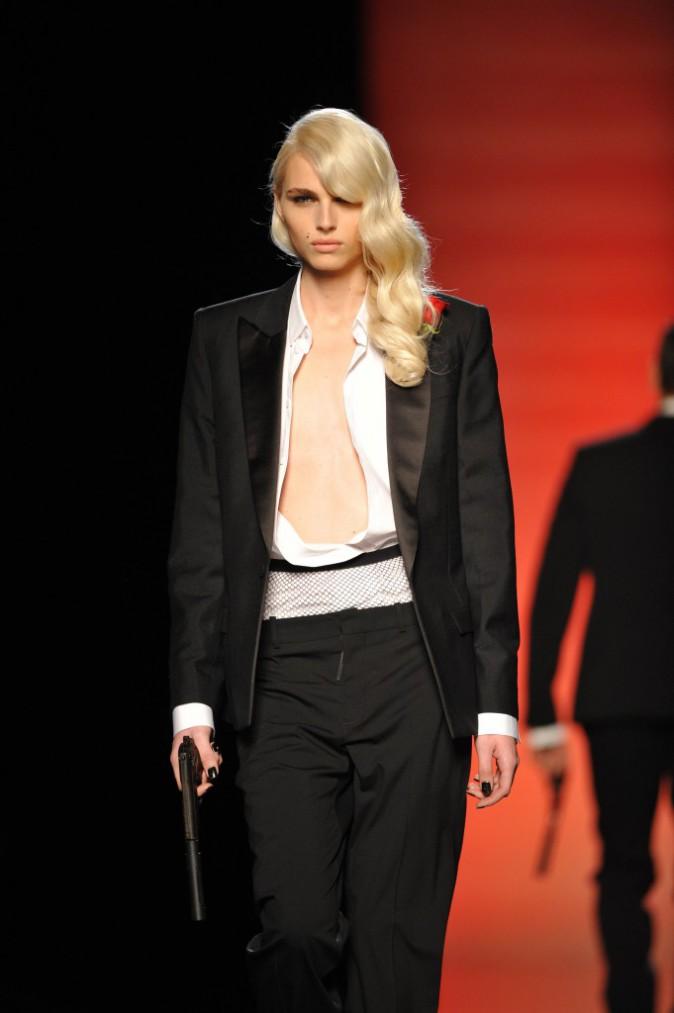 Andrej Pejic pour Jean-Paul Gaultier Automne-Hiver 2012/2013 collection homme