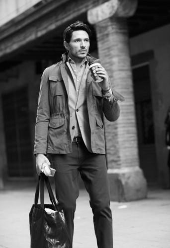 Andrés Velencoso Segura égérie de la nouvelle collection masculine Automne/Hiver 2013-2014 de Mango.