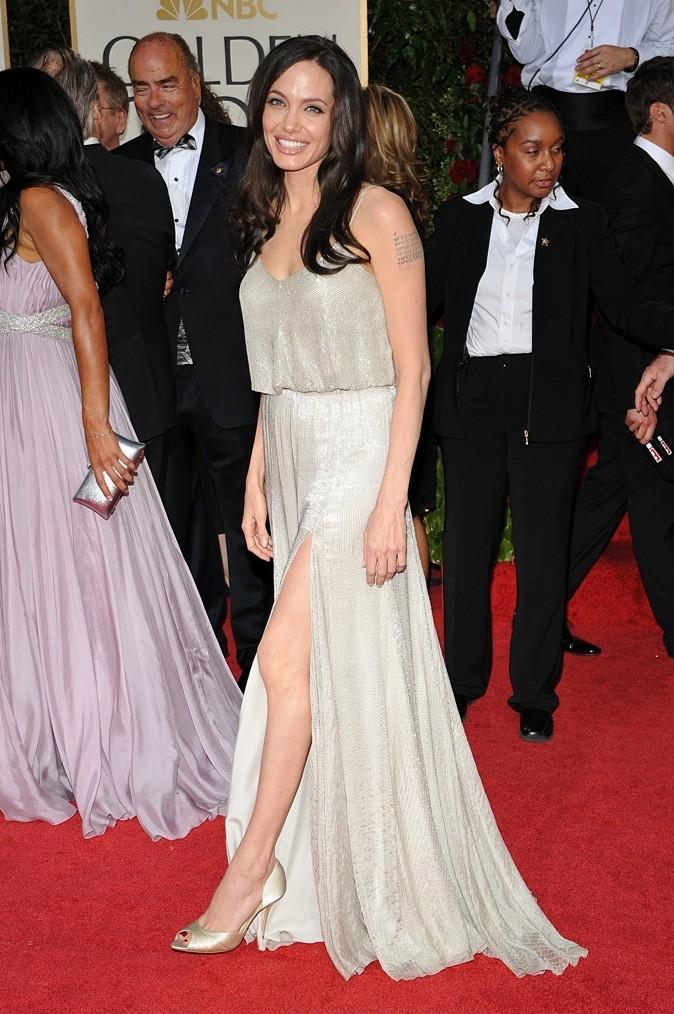 Janvier 2009 : Angelina Jolie à la cérémonie des Golden Globes