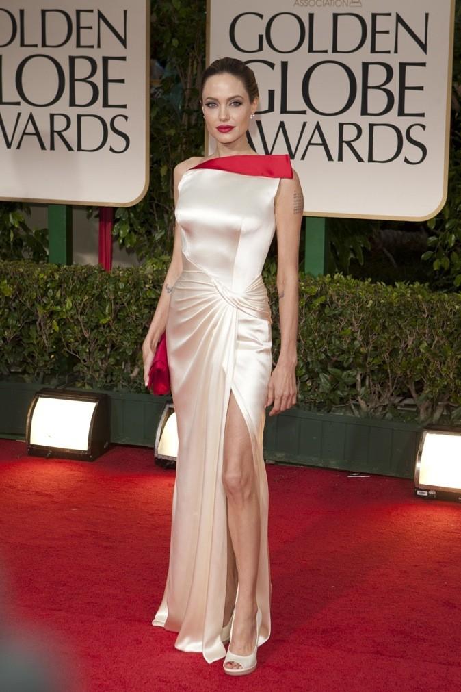 Janvier 2012 : Angelina Jolie à la cérémonie des Golden Globes