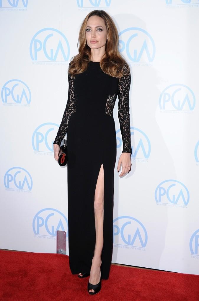 Janvier 2012 : Angelina Jolie à la cérémonie des Screen Actors Guild Awards