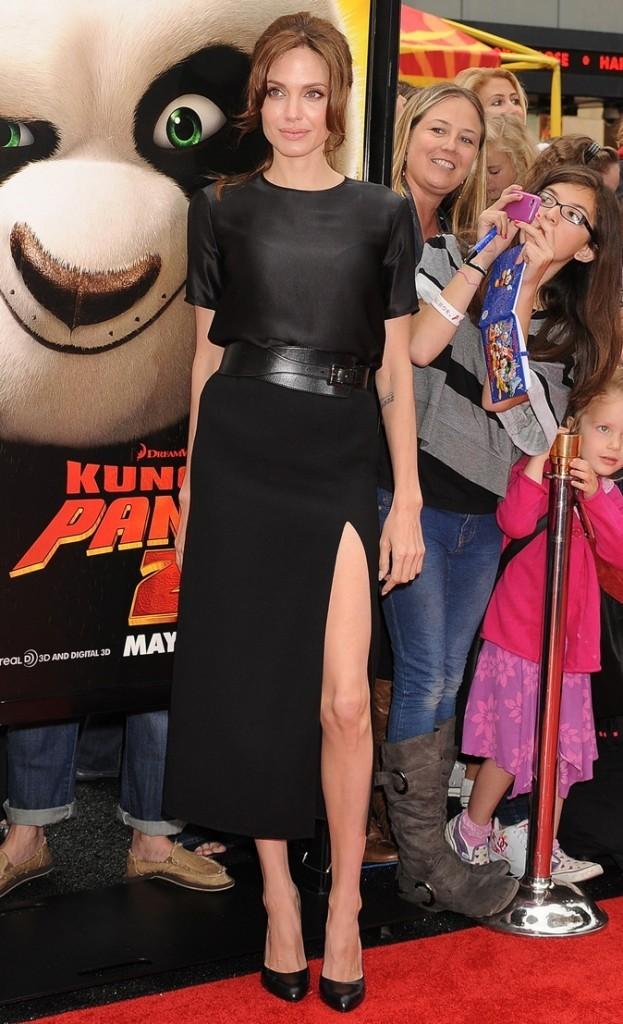 Mai 2011 : Angelina Jolie à l'avant-première de Kung Fu Panda 2