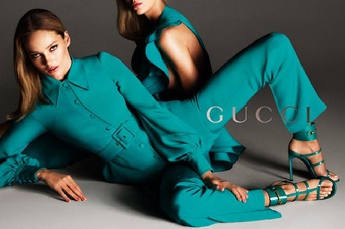 Anja Rubik et Karmen Pedaru pour la campagne Gucci printemps-été 2013