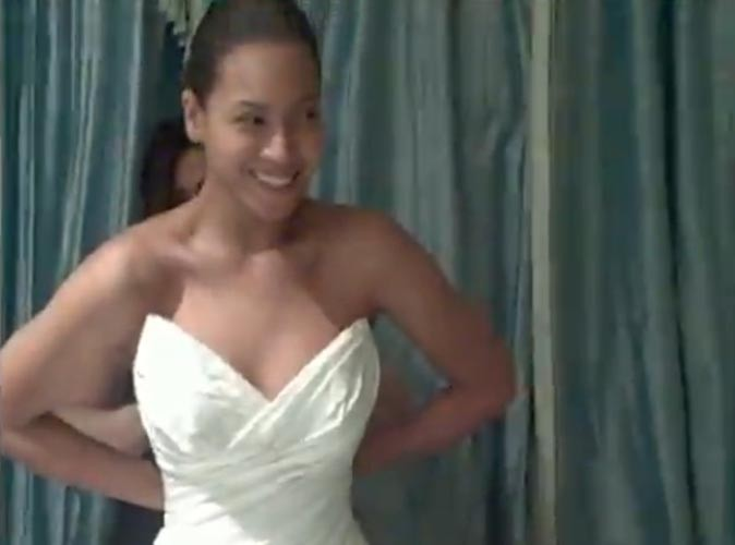 Enfin, la robe de mariée de Beyoncé !